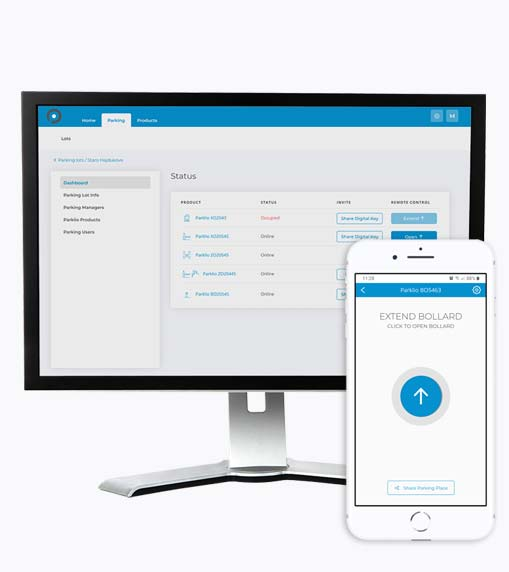 Gateway controlled via desktop and mobile application